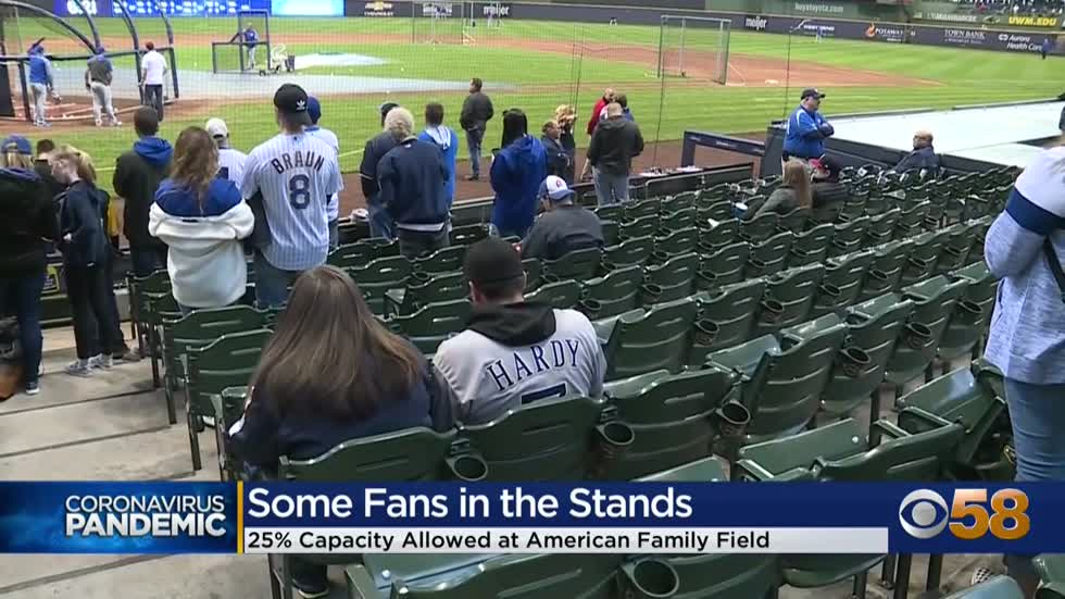 Brewers approved to host 25% capacity at American Family Field...